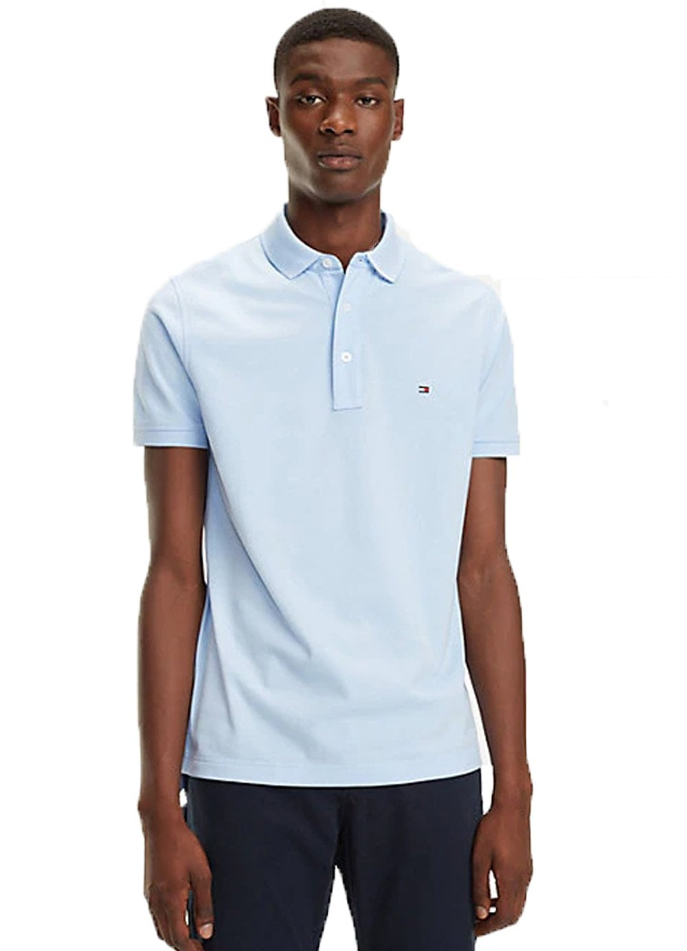 e640360d Tommy Hilfiger Tommy Slim Polo Chambray Blue - Time Clothing