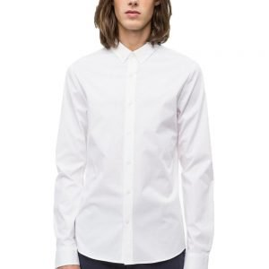 Calvin Klein Long Sleeved Poplin Shirt White