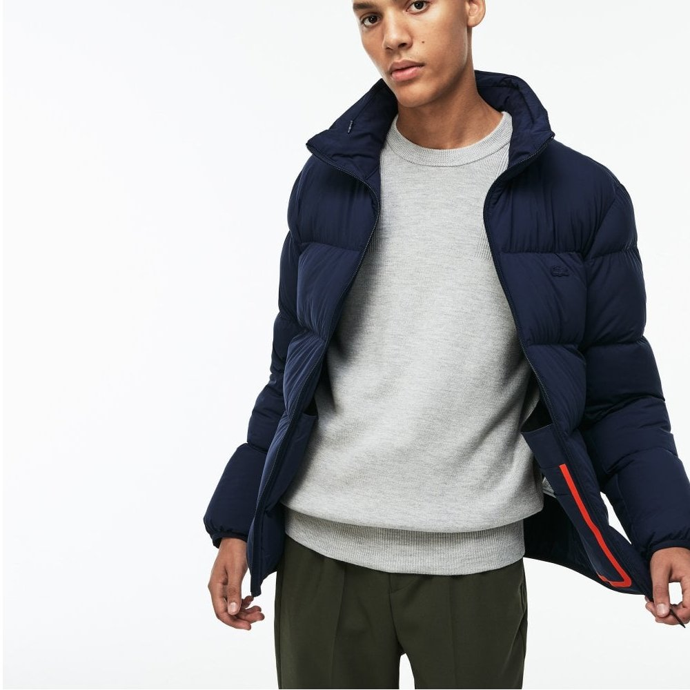 a368794835 Mens Lacoste Motion Concealed Hooded Jacket Navy