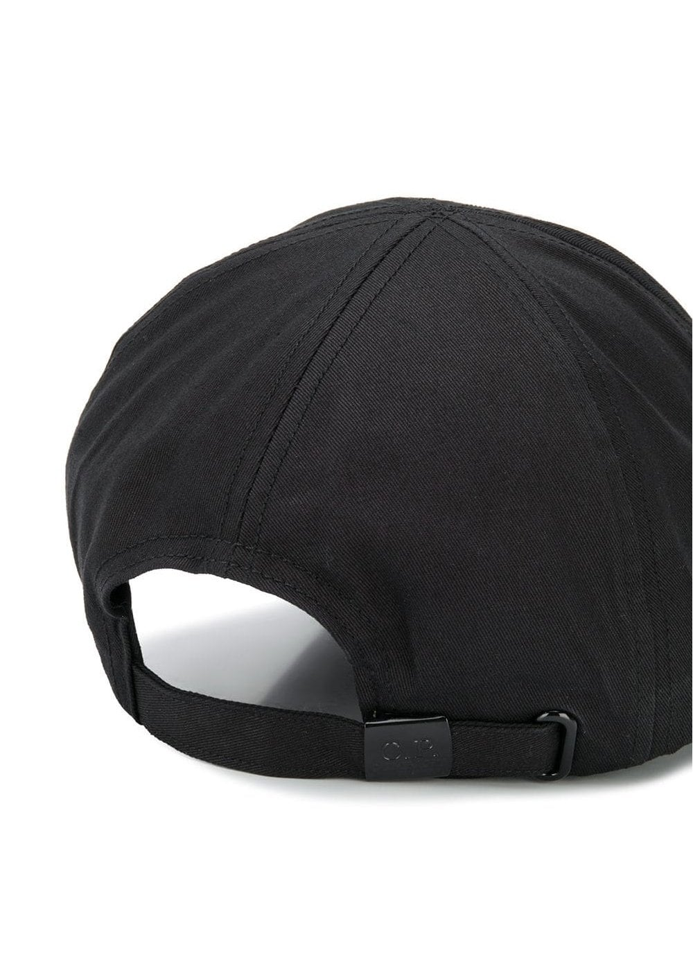 00505912 CP Company Cotton Baseball Cap in Black - Time Clothing