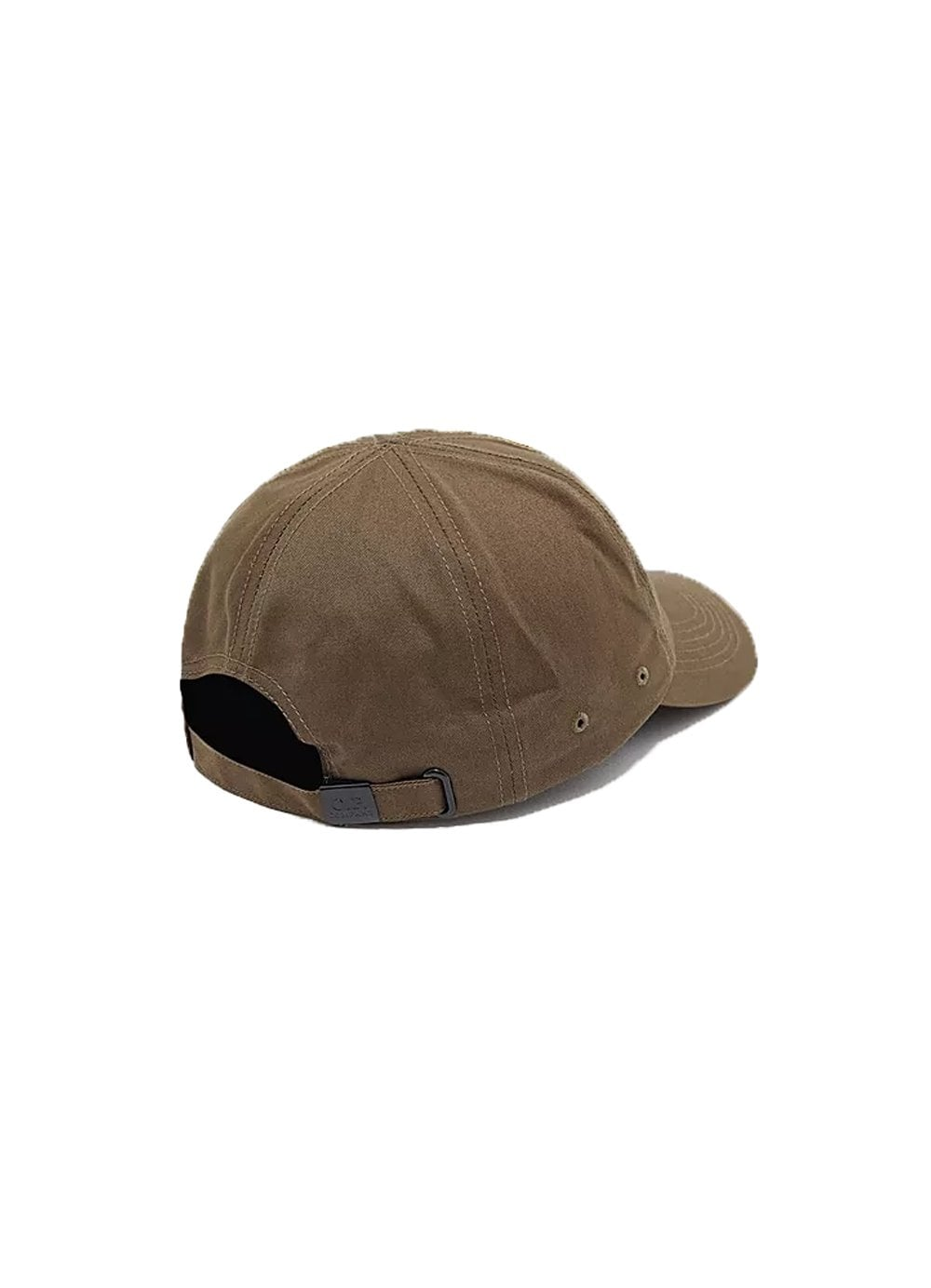 ad48098b Mens CP Company Cotton Logo Cap Khaki - Time Clothing