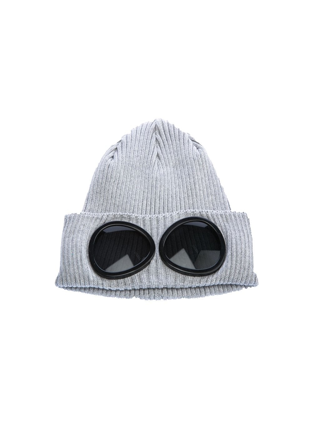 Mens Cp Company Wooly Hat Grey Time Clothing