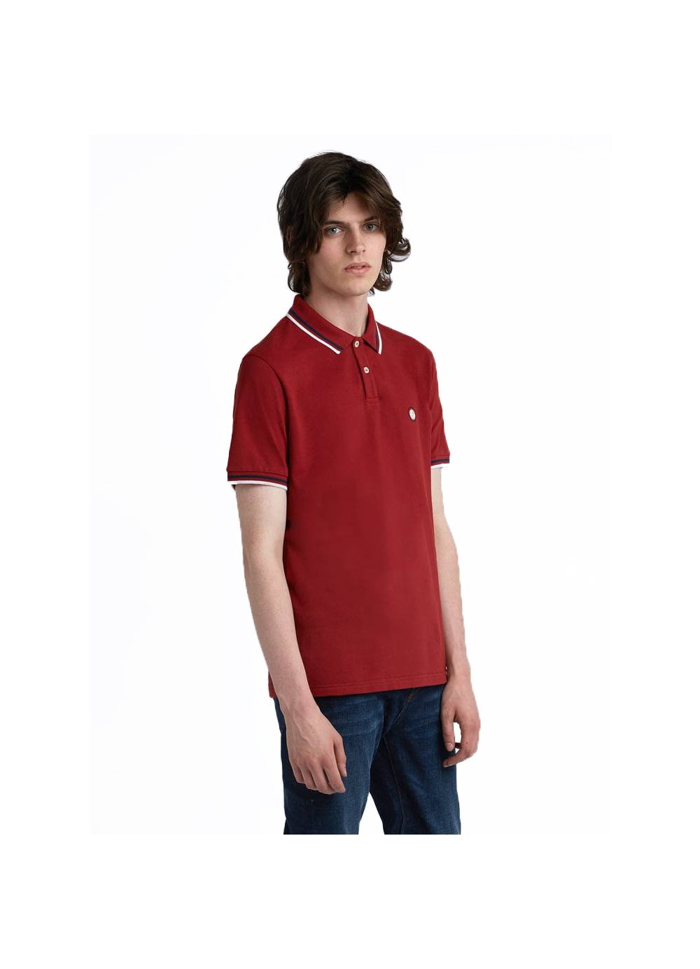 4a3e95f6ad7ee8 Mens Pretty Green Short Sleeved Tipped Pique Polo Shirt Red - Time ...