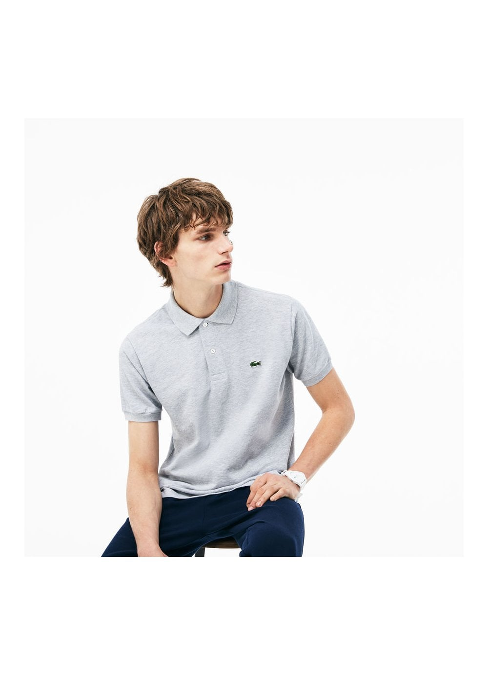 bee3b33332 Mens Short Sleeved Regular Fit Lacoste Polo Grey