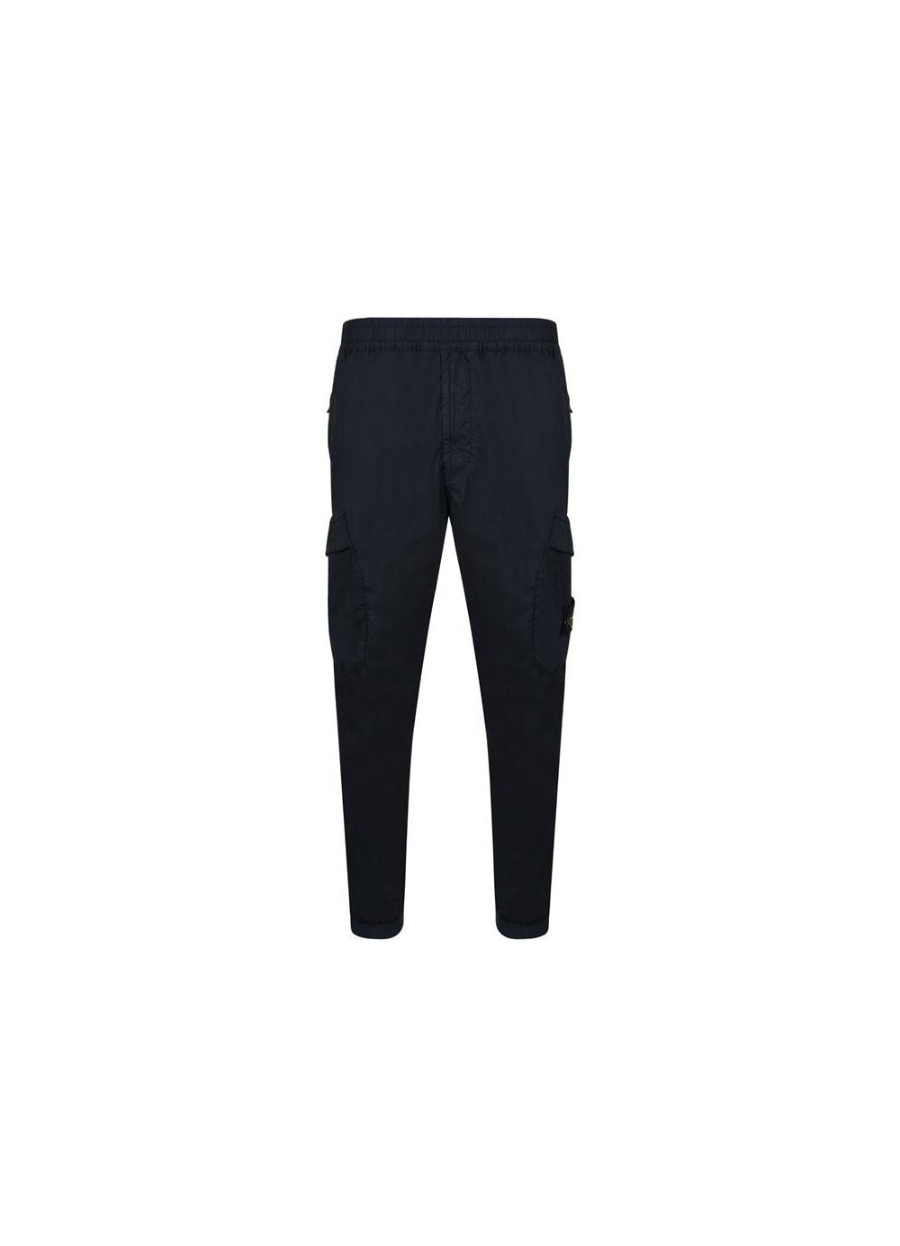 0af628fbe028b Stone Island Poplin Combat Trousers in Navy - Time Clothing