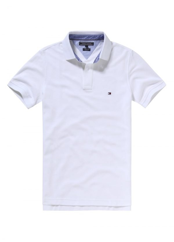 6e46f8c7 Tommy Hilfiger Core Hilfiger Slim Fit Polo Shirt 86 Bright White - Time  Clothing