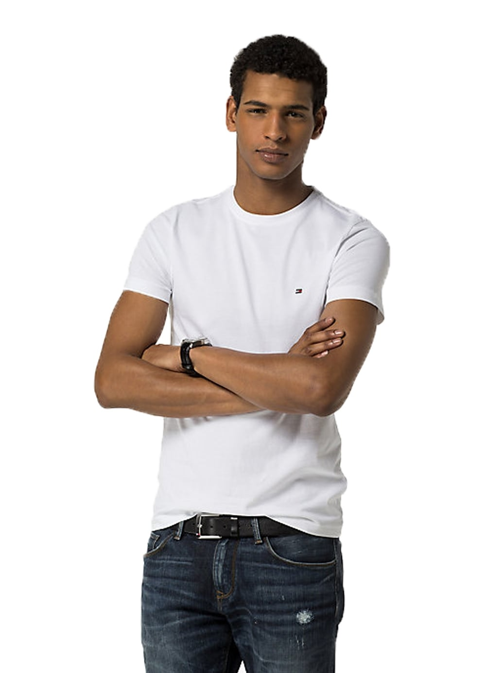 498c716449 Tommy Hilfiger Core Stretch Slim Fit Short Sleeved T-Shirt Bright ...