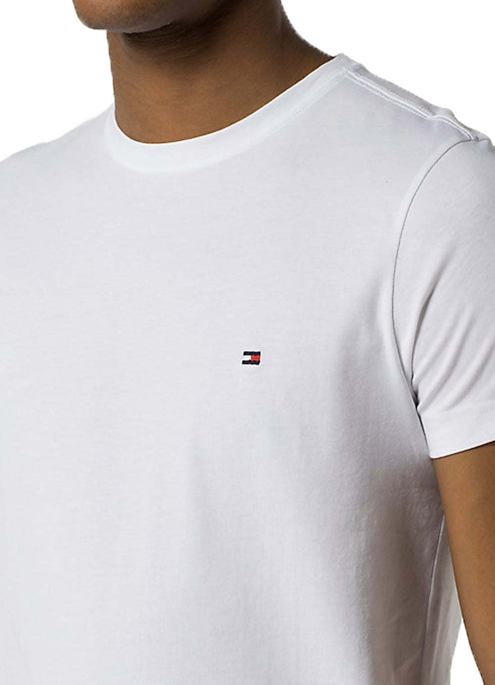 ee0b79c3 Tommy Hilfiger Core Stretch Slim Fit Short Sleeved T-Shirt Bright ...