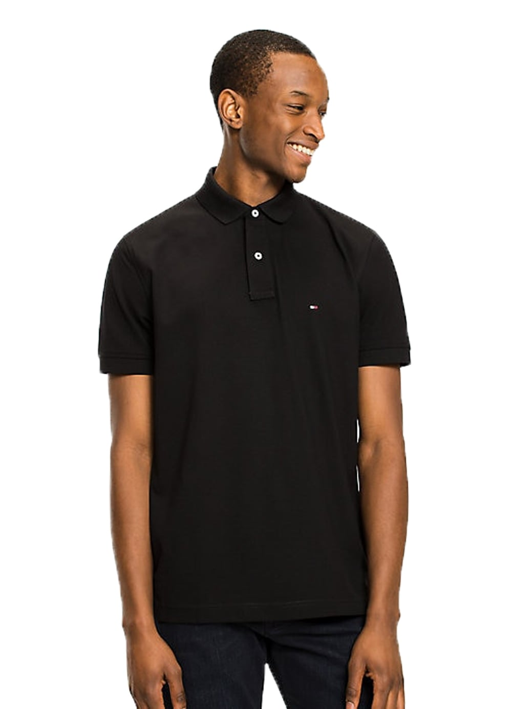 8ae38a4a Tommy Hilfiger Mens Core Regular Polo Flag Black - Time Clothing