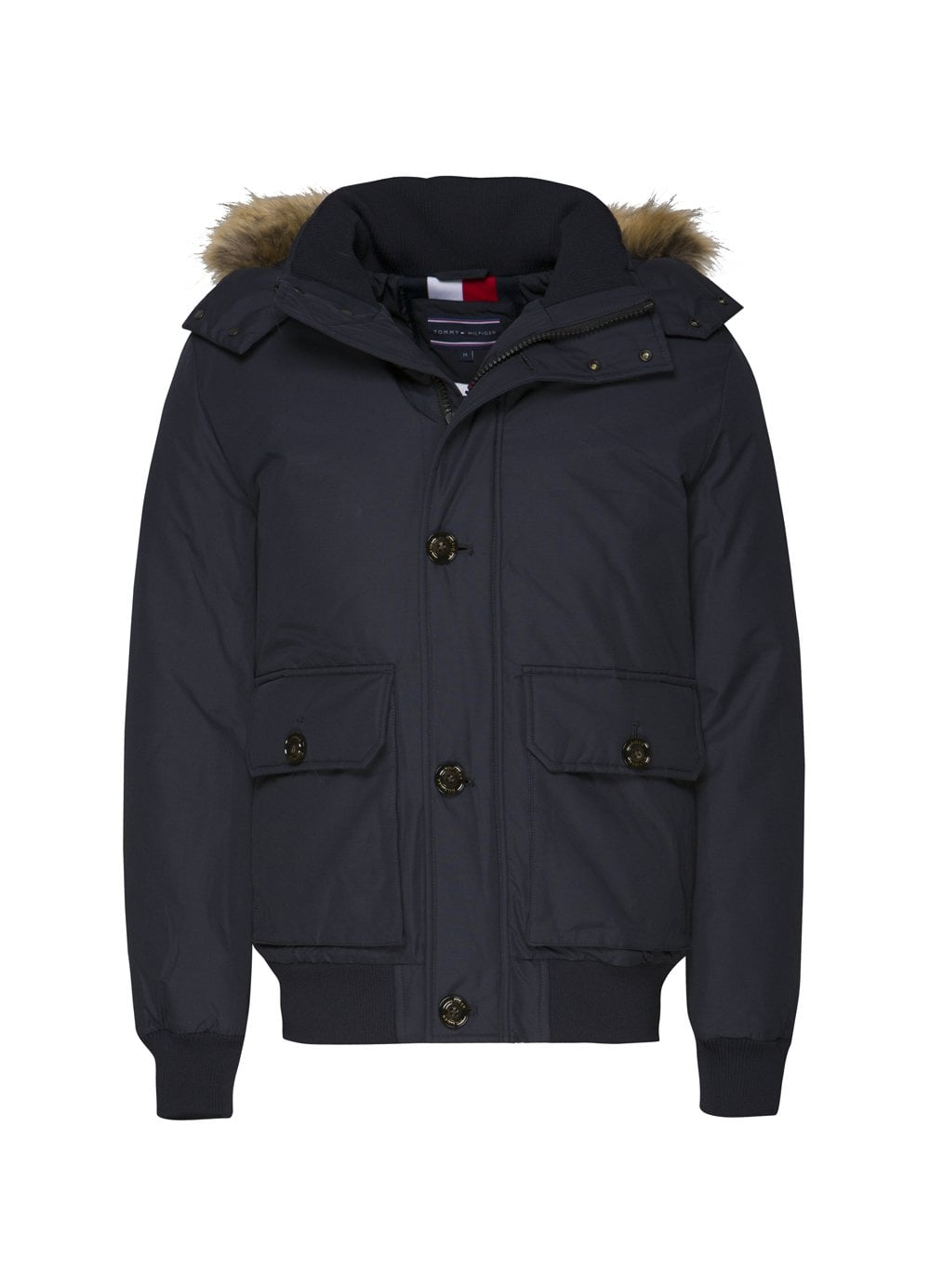 9006580c Tommy Hilfiger Mens Hampton Down Jacket Navy - Time Clothing