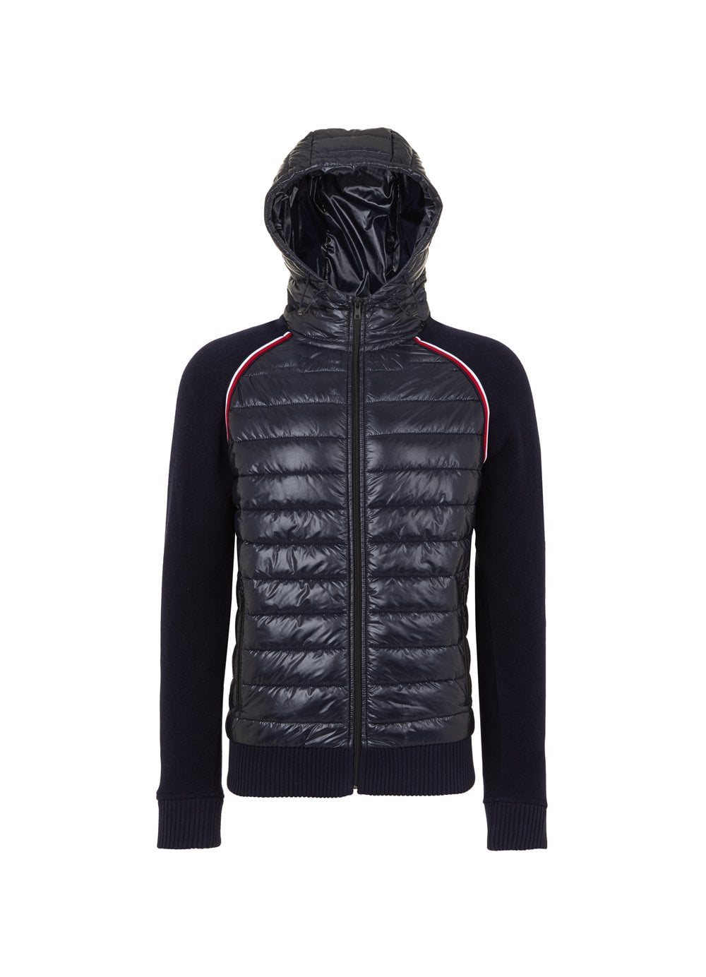9200b5651 Tommy Hilfiger Mens Mixed Media Wool Zip Navy - Time Clothing