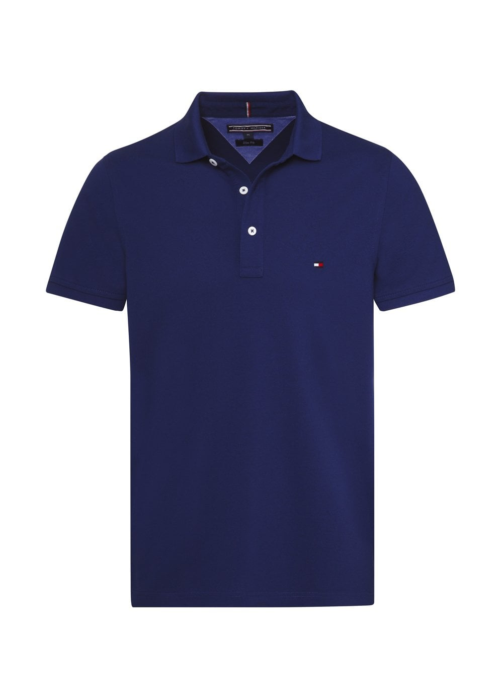 d1431887 Tommy Hilfiger Mens Slim Polo Royal - Time Clothing