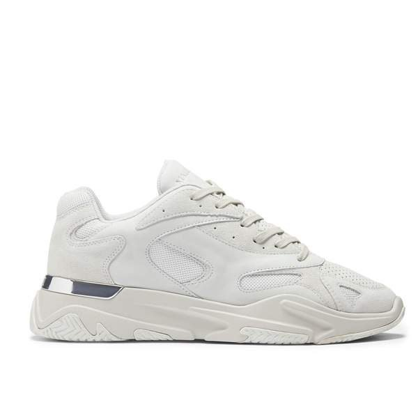 Mallet Lurus White Suede - Time Clothing